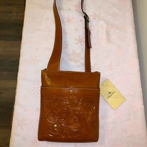 Patricia Nash leather crossbody purse